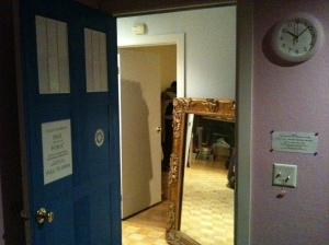 A view from inside the TARDIS.